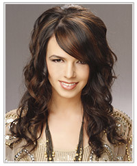 Model with dark wavy hair